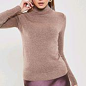 Одежда handmade. Livemaster - original item Turtleneck brown for every day. Handmade.
