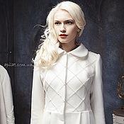 Одежда handmade. Livemaster - original item Woman White Wool Winter Coat, White wedding wool A-line coat C-2. Handmade.
