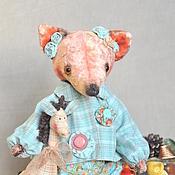 Куклы и игрушки ручной работы. Ярмарка Мастеров - ручная работа ЛИСОНЬКА НЮСЯ - ПОДСОЛНУШЕК. Handmade.