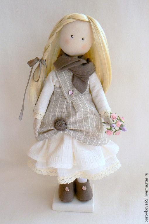 Коллекционные куклы ручной работы. Ярмарка Мастеров - ручная работа. Купить Кукла Марго в Бохо-стиле.. Handmade. Серый