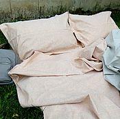 Комплекты постельного белья ручной работы. Ярмарка Мастеров - ручная работа Постельное белье однотонное «Карамельная пастель» лен, комплект постел. Handmade.