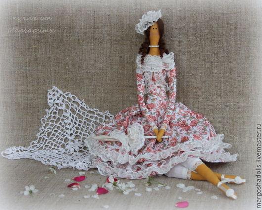 """Куклы Тильды ручной работы. Ярмарка Мастеров - ручная работа. Купить Интерьерная кукла в стиле тильда""""Лилиан"""". Handmade. Бледно-розовый"""