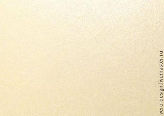 Открытки и скрапбукинг ручной работы. Ярмарка Мастеров - ручная работа. Купить Картон перламутровый, дизайнерский IMPERIAL, Слоновая кость , 260 г.. Handmade.