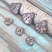 Материалы для творчества ручной работы. Ярмарка Мастеров - ручная работа пуговицы листик кокос 15 и 25 мм пуговки кокосовые натуральные материа. Handmade.