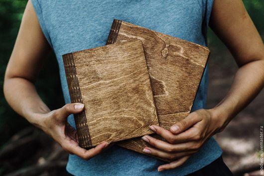Блокноты ручной работы. Ярмарка Мастеров - ручная работа. Купить Деревянная тетрадь. Handmade. Блок из дерева, блокнот для записей