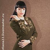 "Одежда handmade. Livemaster - original item Knitted dress""Golden leaves"". Handmade."