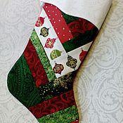 Подарки к праздникам ручной работы. Ярмарка Мастеров - ручная работа Новогодние носки для подарков.. Handmade.