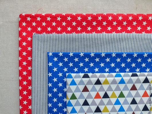 Шитье ручной работы. Ярмарка Мастеров - ручная работа. Купить Корейский хлопок ткани-компаньоны Звезды. Handmade. Корейский хлопок