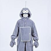 """Одежда ручной работы. Ярмарка Мастеров - ручная работа Костюм-кигуруми """"Бендер"""" (из м/ф """"Футурама"""") с объемным капюшоном). Handmade."""