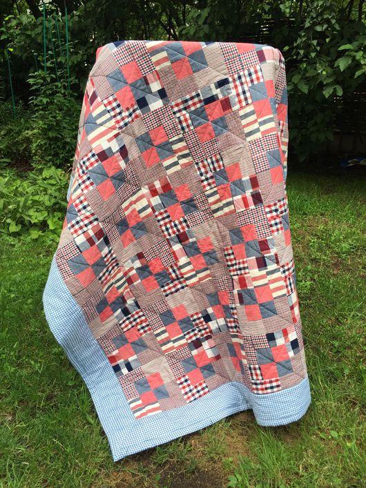 """Текстиль, ковры ручной работы. Ярмарка Мастеров - ручная работа. Купить Лоскутное покрывало """"Джинс"""". Handmade. Пэчворк, лоскутное шитье"""