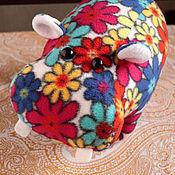 Куклы и игрушки ручной работы. Ярмарка Мастеров - ручная работа Цветочный бегемотик. Handmade.