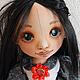 Коллекционные куклы ручной работы. Майя. Текстильная игровая кукла. Талалайко Анна. Ярмарка Мастеров. Хлопок 100%
