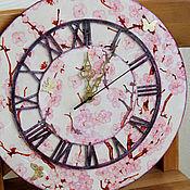 """Для дома и интерьера ручной работы. Ярмарка Мастеров - ручная работа Часы """"Нежной сакуры цвет"""". Handmade."""