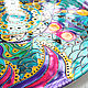 Large mandala 'Noise of the sea' decorative plate porcelain. Plates. Art by Tanya Shest. My Livemaster. Фото №4