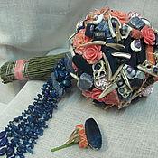 Свадебный салон ручной работы. Ярмарка Мастеров - ручная работа Букет невесты Лазуриты и Кораллы. Handmade.