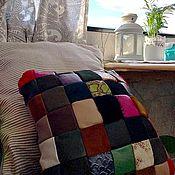 Сувениры и подарки handmade. Livemaster - original item Gift for February 23 Leather Pillow for Home and Car Color. Handmade.