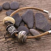 Украшения ручной работы. Ярмарка Мастеров - ручная работа Пробковый браслет для бусин. Handmade.