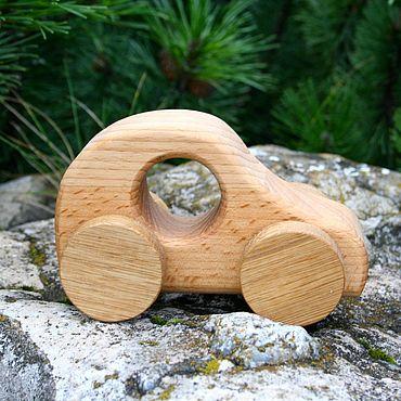 Куклы и игрушки ручной работы. Ярмарка Мастеров - ручная работа Машинка деревянная. Вальдорфская игрушка. Деревянная машинка.. Handmade.