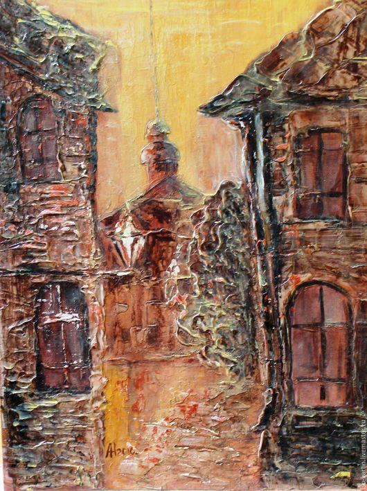 Город ручной работы. Ярмарка Мастеров - ручная работа. Купить Улочки старого города. Handmade. Золотой, улицы города