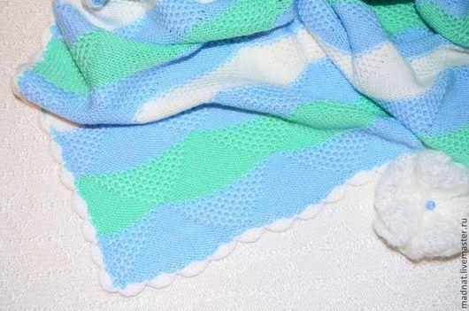 """Пледы и одеяла ручной работы. Ярмарка Мастеров - ручная работа. Купить Детский плед """"Шепот Моря"""" 100% гипоаллергенный акрил. Handmade."""