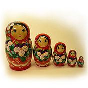 Русский стиль handmade. Livemaster - original item Matryoshka 5 local Floral small 2. Handmade.