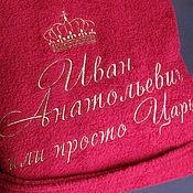 Одежда ручной работы. Ярмарка Мастеров - ручная работа Махровый халат Именная вышивка 1565. Handmade.
