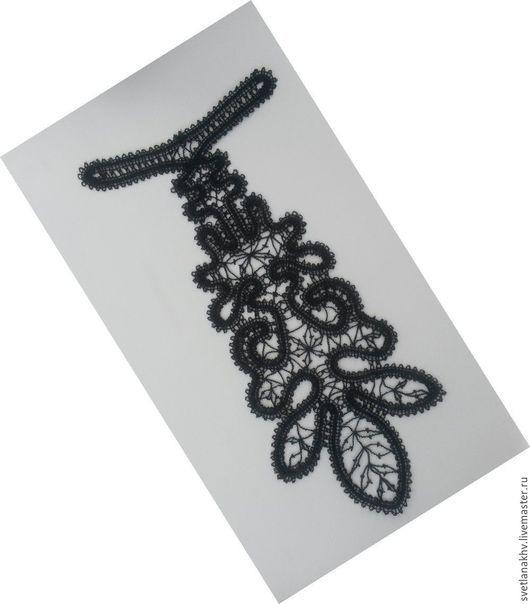 Галстуки, бабочки ручной работы. Ярмарка Мастеров - ручная работа. Купить Галстук кружевной. Handmade. Черный, галстук, кружевной галстук