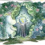 Картины и панно ручной работы. Ярмарка Мастеров - ручная работа Муми-тролль и волшебный шар. Handmade.