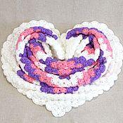 Для дома и интерьера handmade. Livemaster - original item Plaid baby 90х90 crocheted in a statement white pink lilac. Handmade.