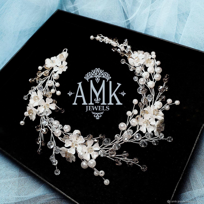 Wedding wreath, floral bridal wreath, Украшения в прическу, Раменское,  Фото №1