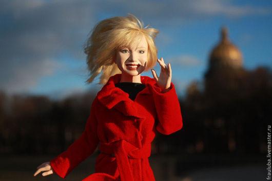 """Портретные куклы ручной работы. Ярмарка Мастеров - ручная работа. Купить портретная кукла """"Наталья"""". Handmade. Ярко-красный, эфапласт"""