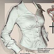 Одежда handmade. Livemaster - original item Shirt female office white