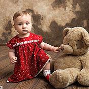 Платья ручной работы. Ярмарка Мастеров - ручная работа Красное платье для девочки. Handmade.