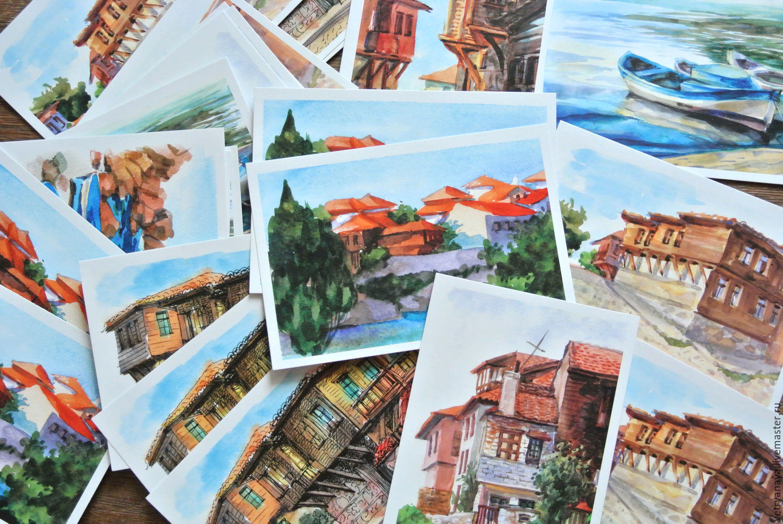 Котята, открытки городами мира