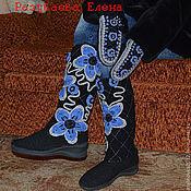 """Обувь ручной работы. Ярмарка Мастеров - ручная работа сапожки вязаные """"серебро"""" зимние. Handmade."""