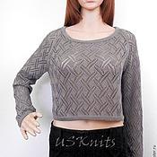 Одежда handmade. Livemaster - original item Knitted summer openwork pullover (sweater crop top). Handmade.