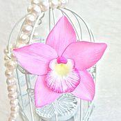 Украшения ручной работы. Ярмарка Мастеров - ручная работа Заколка-брошь Орхидея. Handmade.