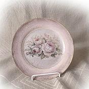 Посуда handmade. Livemaster - original item Decorative plate decoupage