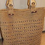Сумки и аксессуары handmade. Livemaster - original item Shopping bag made of jute
