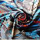 """Шали, палантины ручной работы. Заказать Платок из натурального шёлка """"Доспехи Самурая"""" Hermes. Lady AKT. Ярмарка Мастеров. Палантин"""