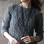 Одежда handmade. Livemaster - original item Women`s cardigan knit grey. Handmade.