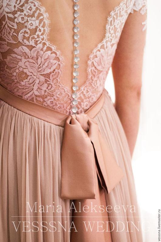 Одежда и аксессуары ручной работы. Ярмарка Мастеров - ручная работа. Купить Свадебное платье для беременной. Handmade. Свадебное платье