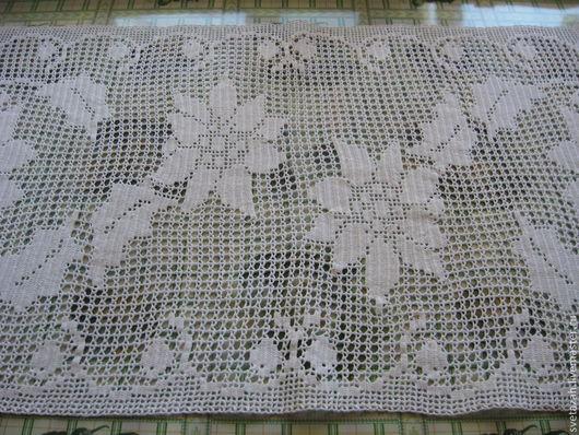 """Текстиль, ковры ручной работы. Ярмарка Мастеров - ручная работа. Купить Дорожка для стола """"Цветы"""". Handmade. Белый, крючком, для дома"""