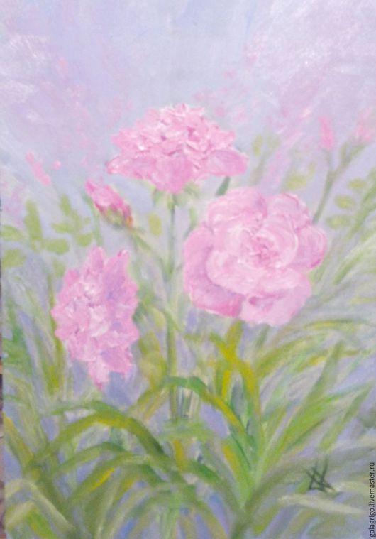 Картины цветов ручной работы. Ярмарка Мастеров - ручная работа. Купить Предчувствие лета. Handmade. Розовый, картина для интерьера, цветы