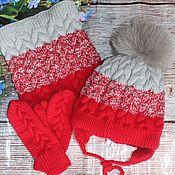 Аксессуары handmade. Livemaster - original item Knitted winter set with gradient. Handmade.