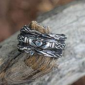 Украшения handmade. Livemaster - original item FINISHED 17 size Claddagh silver ring. Handmade.