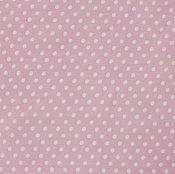 Материалы для творчества ручной работы. Ярмарка Мастеров - ручная работа Ткань Хлопок Мелкий горошек Розовый. Handmade.
