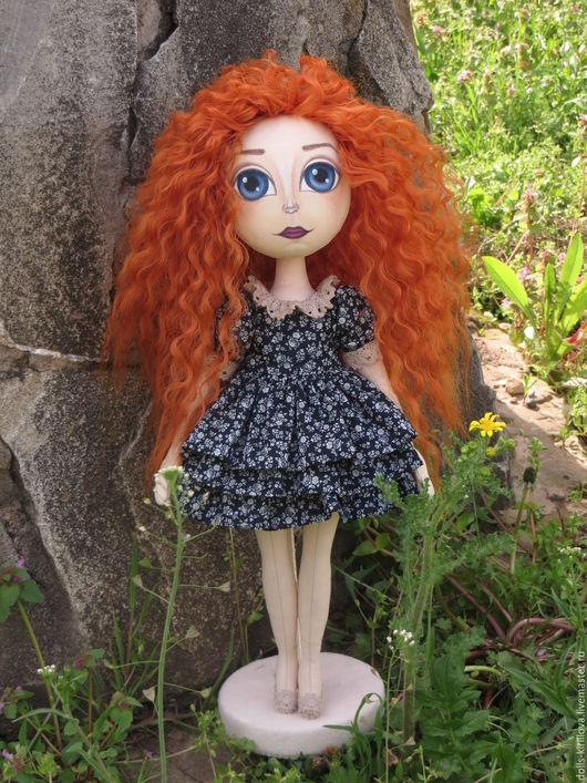 Коллекционные куклы ручной работы. Ярмарка Мастеров - ручная работа. Купить Яркое солнышко. Handmade. Тёмно-синий, трессы для кукол