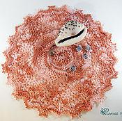Для дома и интерьера ручной работы. Ярмарка Мастеров - ручная работа Салфетка крючком Коралл. Handmade.