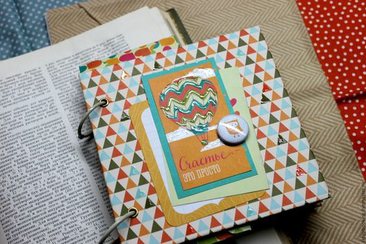 Альбом - блокнотик для фотографий, мастерская скрапбукинга Living History